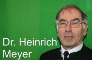 Dr. Heinrich Meyer, Obmann für Jagdhornbläser