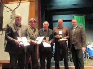 Ehrung der Teilnehmer der Mannschaft Burgdorf A1 für langjährigen Einsatz auf Wettbewerben – Jahreshauptversammlung 2013