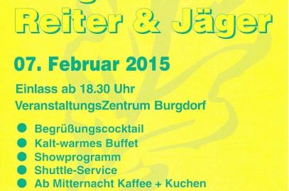 Gemeinsamer Ball der Burgdorfer Reiter & Jäger findet am 7. Februar 2015 statt