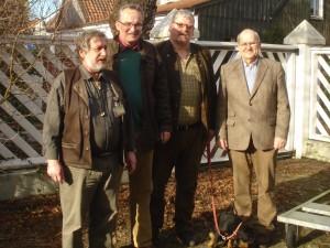 Klausgünter Kleffmann (v.l.n.r.), Oliver Brandt, Hans-Otto Thiele und Barthold Plass sind hochzufrieden mit der Resonanz der Ausstellung. Foto: Pilgrim.