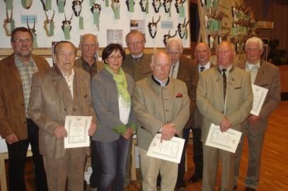 Jägerschaft ehrt Kurt Grefe und Gerhard Pflüger für 60 Jahre Mitgliedschaft