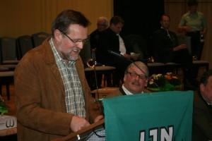 Schatzmeister Horst Windt bei seinem Rechenschaftsbericht. Foto: Uwe Kurmeyer