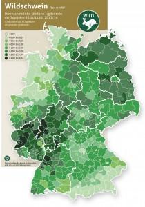DJV-Infografik: Schwarzwild fühlt sich nahezu überall in Deutschland sauwohl. - Grafik: DJV