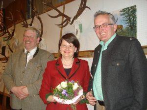 Hans-Otto Thiele und Oliver Brandt dankten Staatssekretärin Dr. Maria Flachsbarth für die Würdigung der Jagd und der Arbeit der Jägerschaften.