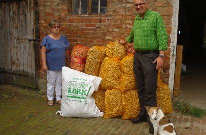25 Säcke mit Korken unterstützen den Umweltschutz und sichern Arbeitsplätze von Behinderten