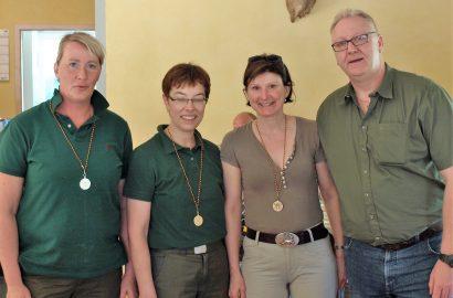 Iris Köhler und Björn Ebeling sind Kreismeister im jagdlichen Schießen